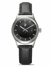 Original BMW Damen Armbanduhr Uhr Classic Edelstahl Leder Armband