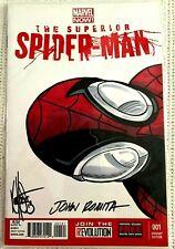 ~FREE SHIPPING~Marvel SUPERIOR SPIDER-MAN #1 w/Sketch & ROMITA Signature COA #3