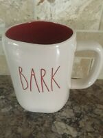 RAE DUNN BARK Mug Cup Ivory Red Large Letters By Magenta Rare New HTF
