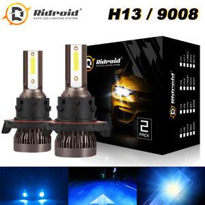 2X Mini H13 9008 8000K Ice Blue LED Headlight Bulb Hi-Lo Beam Conversion Kits