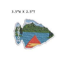 New ListingCustom Your Text Mountain Lake Embroidered Patch Iron-on /Sew-on Nature Applique