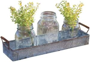 """NEW Galvanized Metal Candle Tray - Modern Home Decor - Household Decor 16"""""""