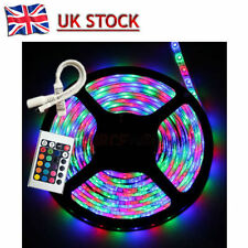 5M 3528 SMD RGB 300 LEDs Waterproof Flexible Strip Lighting12V Receiver+ Remote