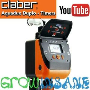 Claber Aquadue Duplo Dual Automatic Water Timer Controller Electronic Irrigation