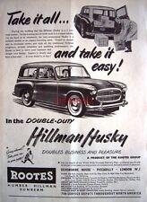 Hillman HUSKY 1955 Station-Wagon Motor Car ADVERT #2 - Original Auto Print AD