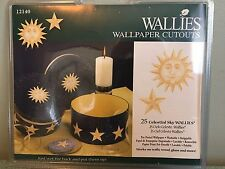 """Wallies Wall Paper Cut Outs 25pkg Celestial Sky Wallies 5"""" Pre-pasted Washable"""