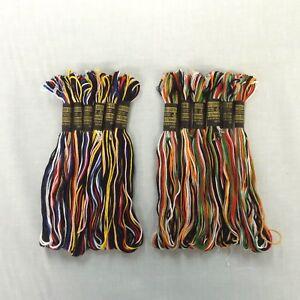 10 Peri-Lusta Vintage 6 Stranded Mercerised Cotton Embroidery Thread Floss Skein