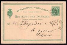 DENMARK TO SWITZERLAND PS STATIONERY POSTAL CARD 1881 VIJLE # 76 - ST. GALLEN