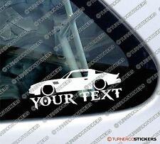 Personalizado, tu texto bajo 1979 Chevrolet Camaro Z28 contorno de la etiqueta engomada de coche del músculo