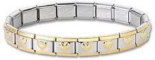 Wholesale Lot 24 Italian Charm Bracelets Stainless Steel Hearts Silver Gold New