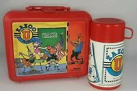VINTAGE Lunchbox Plastic with thermos Zazoo U 1990 Aladdin