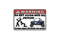 WARNING: Funny Decal/Sticker for RZR lovers XP1000 Fridge/Car/Truck/Home/ATV/UTV