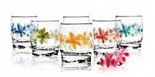 6 Verres Gobelets à eau, Soda et à jus / Collection Langages des Fleurs / 250 ml