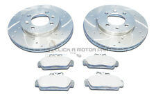 MGF MG TF 1995-2009 FRONT DRILLED & GROOVED BRAKE DISCS & MINTEX PADS SET NEW