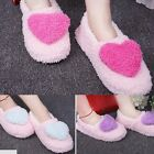 Women Gril Heart Shape Indoor Anti-slip Warm Shoes Heart Soft Covering Slippers