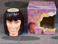 RARE 1998 XENA WARRIOR PRINCESS LG FIGURAL MUG /CUP LUCY LAWLESS FACE  TV NIB