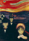 Edvard Munch Anxiety canvas print giclee 8X12&12X17 poster reproduction art