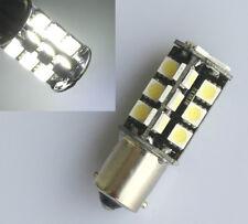 2x White 1156 BA15S P21W Canbus Error Free 27-LED SMD Rear Light Brake Bulb 12V