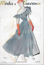 RARE!MODES et TRAVAUX n° 570/Juin 1948/Mode vintage grands couturiers