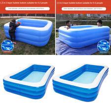 Rectangular Inflatable Swimming Pool Outdoor Backyard for Kiddie, Kids, Infants