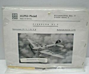 HUMA MODELL FIESELER Fi 5 / Fi5 R MODEL KIT 1/72 SCALE SEALED