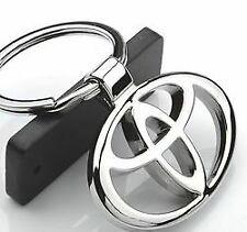 Toyota 3D Car Logo Key Chain Key Ring Fob Pendant Home Office Gift Chrome UK