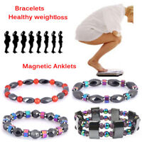 Magnetic Weight Loss Bracelet Beads Hematite Stone Therapy Health Care JewelryEP