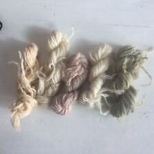 5 Skeins Tapestry  Wools Creams And Fawns Mushroom Colours