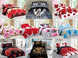 Duvet Cover Sets 4pc Bedding Sets Printed Collection With Pillowcases