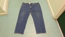 """Carhartt Relaxed Fit Waist 46"""" Leg 30"""" Men's Medium Blue Jeans"""