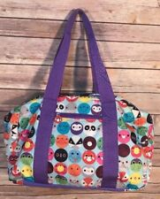 Paperchase Duffel Bag Nylon Tween Overnight Travel Bag Purse Purple Multi-Color