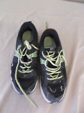Nike Sneakers Kid's Youth 5Y Black White Green Yellow Laces Motion Fit 5643