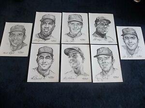 1969 NY Mets Stark Daily News Portfolio Of Stars SET OF 20 near-mint with folder