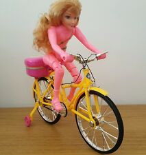 Bicicleta Automático Eléctrico Bicicleta DOLL LED Luces Y Música Rosa Niñas Juguetes 28CM