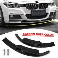 Front Bumper Splitter Lip For BMW F30 3 Series M Style 2012-2018 Carbon Fiber