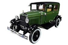 1931 FORD MODEL A TUDOR TWO-TONE GREEN 1/18 DIECAST MODEL CAR BY SUNSTAR 6105