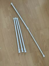 4 x Spring Loaded Extendable Telescopic Net Tension Curtain Rail Pole Net Rods