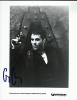 George Clooney signed Rodriguez' From Dusk Till Dawn B&W 8x10 Still Photo