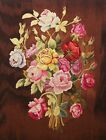 Vintage Aubusson Floral Tapestry Panel - Wool & Silk - France - Mid 20th Century