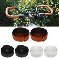 2 Bar  Plug 2Pcs//Set Bike Cycling Road Sports Handlebar Tape Faux Leather Wrap