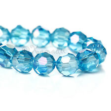 Turquoise AB Finish Faceted Wholesale Round Crystal Beads 6x6mm - G8876