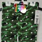 NWT Big Girls LIMITED TOO 3 Pack LEGGINGS Size SMALL 7/8 Camo & Black & Grey $40
