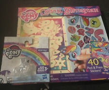 My Little Pony Rarity Mini Clear Figure 2+ Stickers Collectible Toy Hasbro