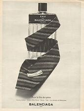 Publicité Advertising 1965  Parfum Eau de Balenciaga pour homme