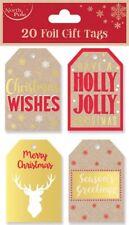 20 Luggage Kraft Gift Tags Red Ribbon Christmas Xmas Present Wrapping Greetings