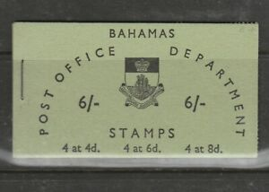 Bahamas Booklet 1961 6/- Green, Upright stamps, SG SB5
