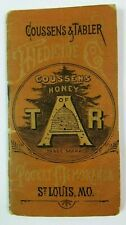 1886 COUSSENS & TABLER Quack Medicine ST LOUIS BOOKLET Advertising HONEY OF TAR