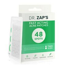Dr Zaps Pimple Patch - 48 Acne Spot Treatment Dots in 2 Sizes - Absorbing Hydroc