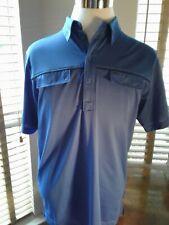 J LINDBERG Royal Blue Golf Polo Shirt Size L   P10473