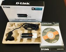 D-LINK DWA-140 RangeBooster N USB Adapter 300MBPS New Open Box